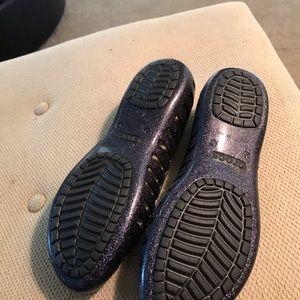 CROCS Shoes - Crocs size 6 navy sparkle
